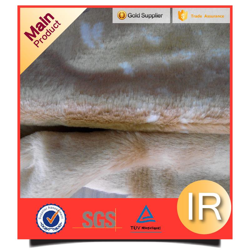 100%acylic jacquard artificial fur fabric china factory wholesale