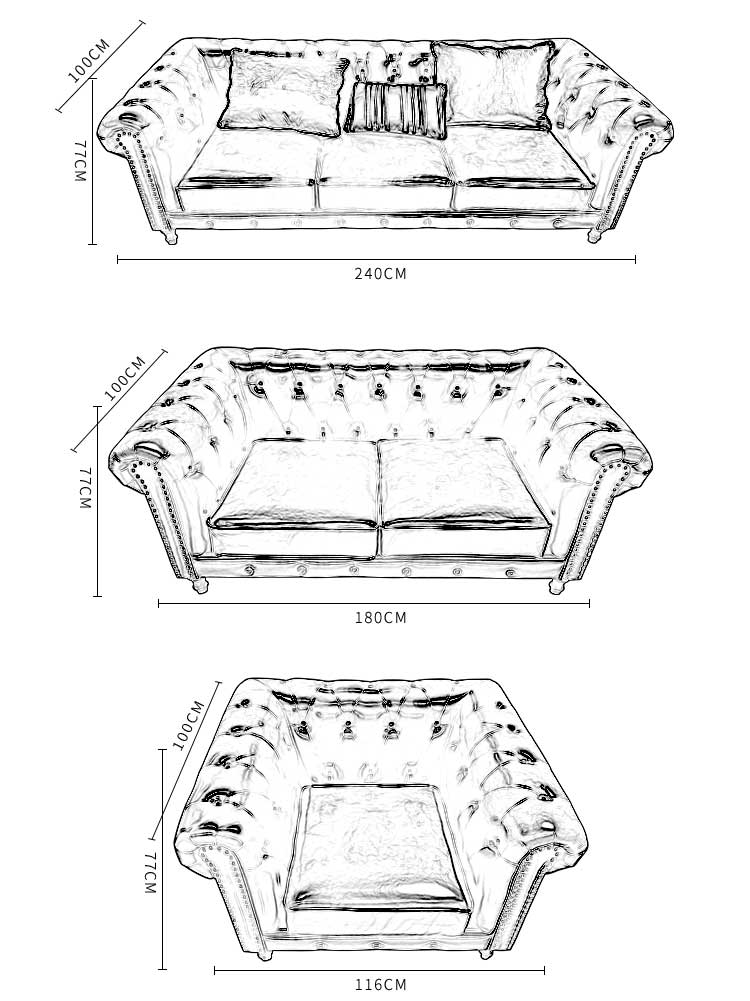 American Style Leather Chesterfield Sofa Buy Leather Chesterfield