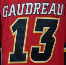 Calgary <span class=keywords><strong>Johnny</strong></span> Gaudreau Beste Kwaliteit Gestikt Nationale Hockey Jersey
