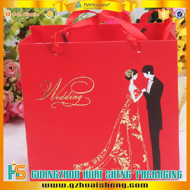 Cheap Customized Recycled Printed Wedding Door Gift Paper Carrier