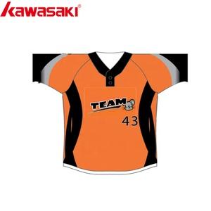 ed9c7e95c68 High Quality Track Twill Custom Design Orange Two Button Baseball Jerseys  Baseball Uniforms