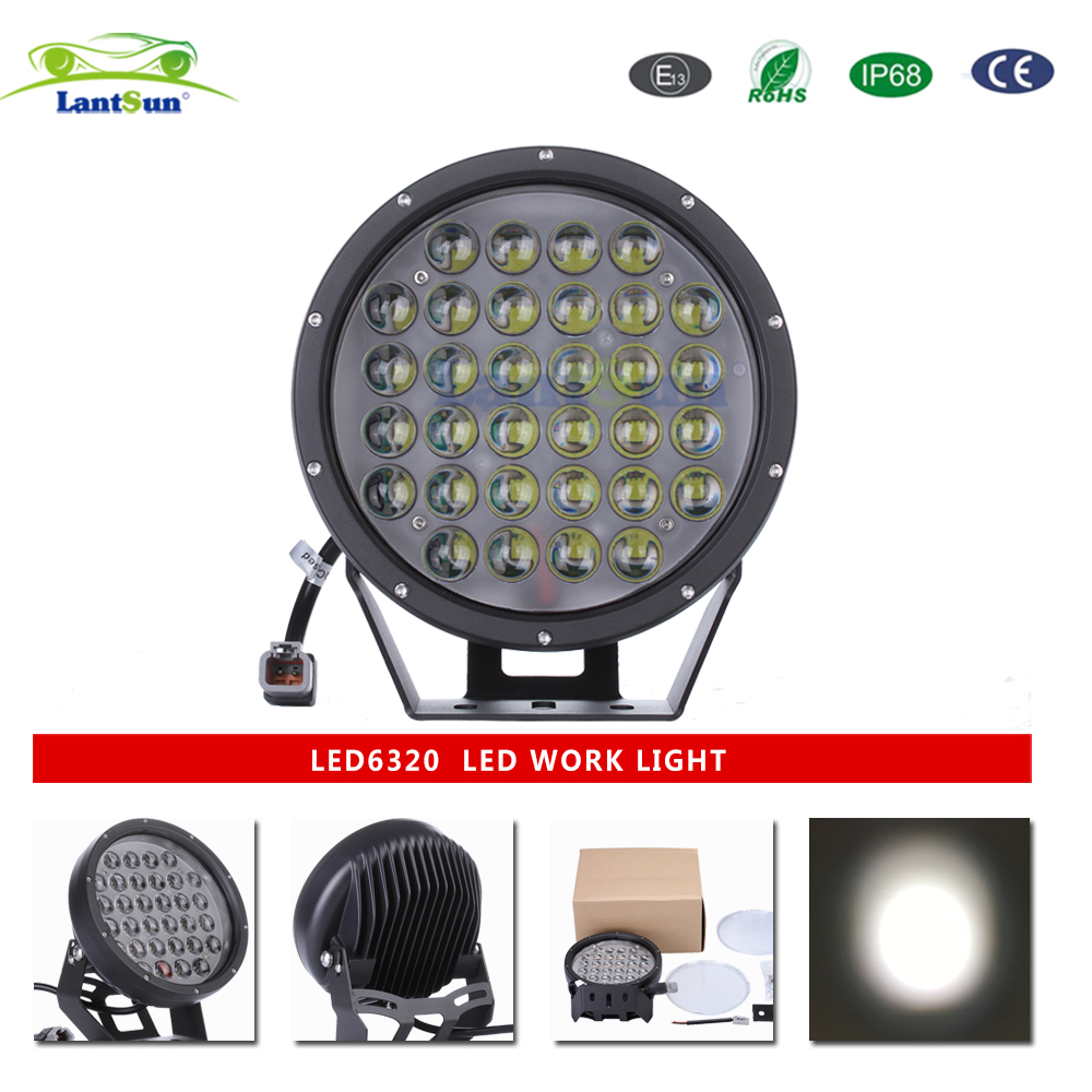 "LED6320 DC10-30V IP68 aluminum 9"" inch 320w round offroad led driving light for truck tractors"