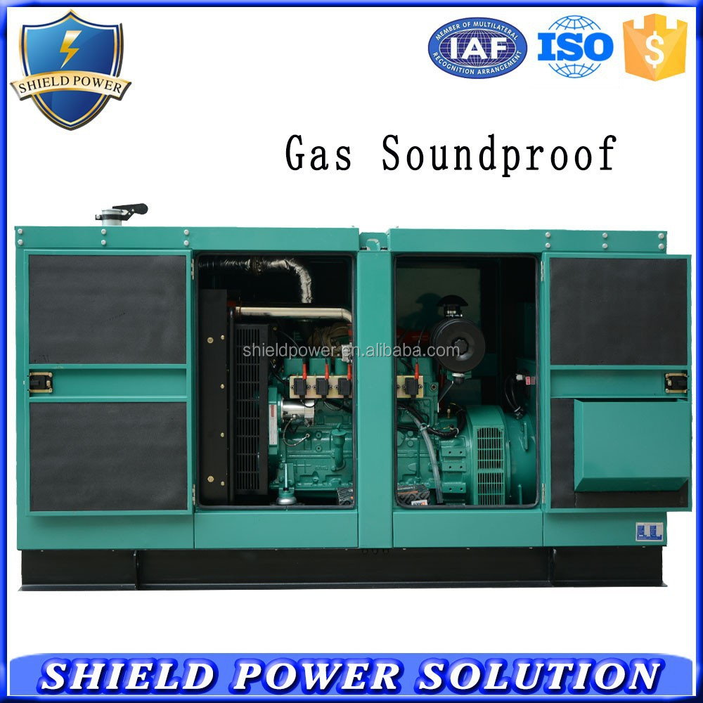 100KW CHP Generator Set Silent Type Biogas Natural Gas Generators