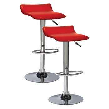 Modern Style Outside Mini Bar Club And Stools Red Leather