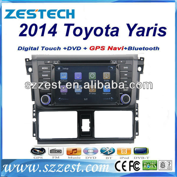 ZESTECH Central multimedia car radio dvd gps 2din dvd ipod for Toyota Yaris 2014