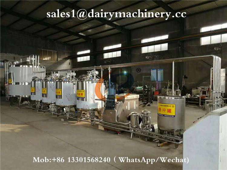 1000 liter Rvs Melk Pasteur Machine Voor Koe Verse Melk Fabriek Pasteurisatie Machine Dairy Farm