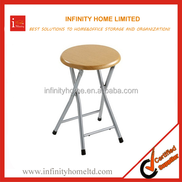 Stackable Bathroom Round Metal Stool