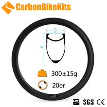 CarbonBikeKits 38mm deep 406 20 inch bike carbon bmx rims clincher
