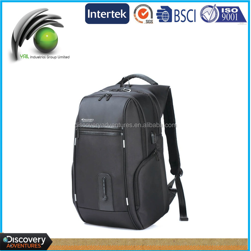 Discovery Special new designed multi-functional power bank sport backpack nylon rechargeable backpack