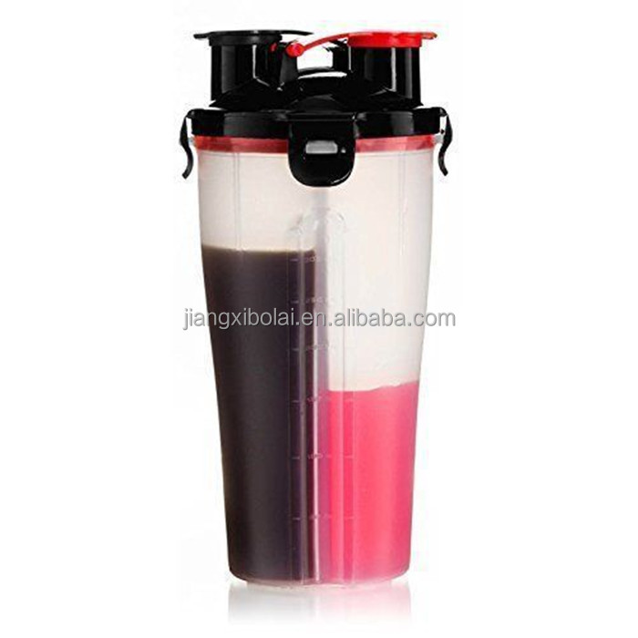700ml Plastic water bottle share cup hydra cup dual shaker cup