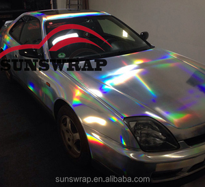 Holographic Neo Chrome Vinyl Wrap Laser Rainbow Chrome Wrapping Foil Auto Coating