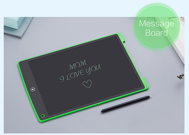 China factory sketch pad 12 inch lcd writing tablet kids drawing board message board