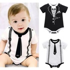 wholesale Newborn baby clothes romper bodysuits body organic cotton Pattern customization baby boy summer clothes