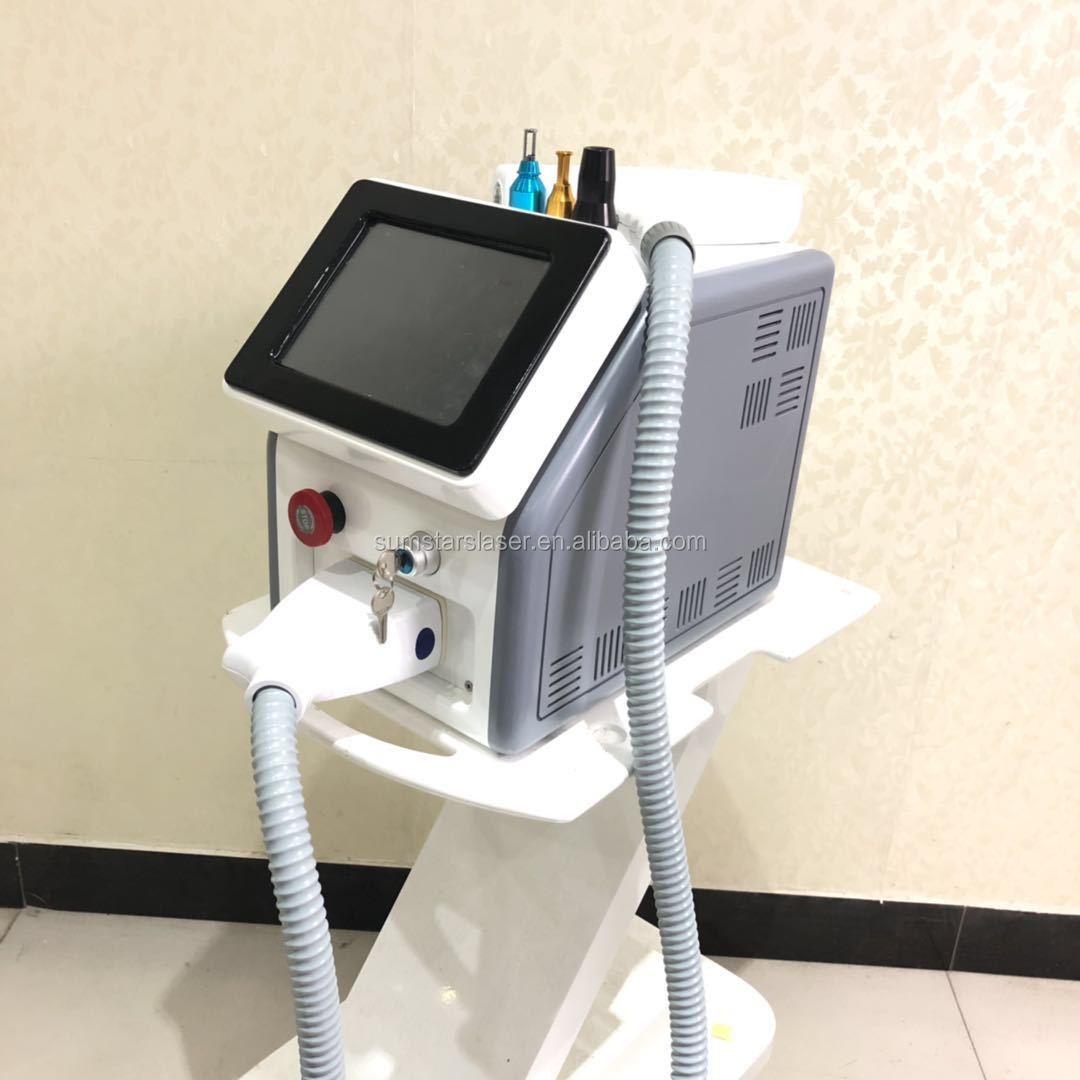 Q switched Nd Yag Laser di Rimozione Del Tatuaggio Macchina Per Il Salone Spa uso Ospedaliero