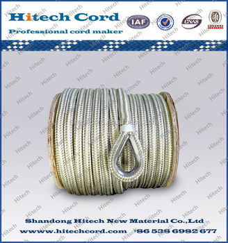 Double braid anchor line / nylon braided cord / braided nylon rope with core for yacht
