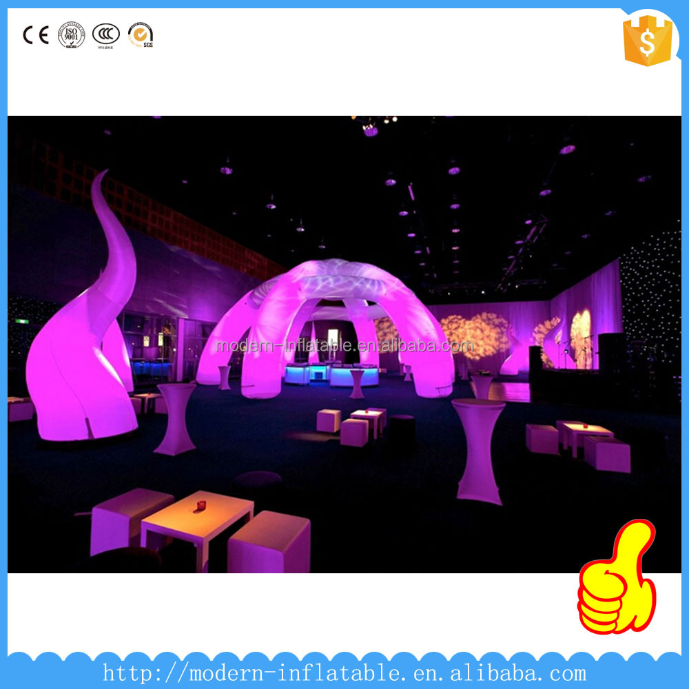 hot sell beautiful inflatable party arch/inflatable led tube booth/inflatable led tent for party weeding decoration