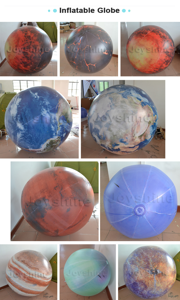 Inflatable Planet World Map Earth Ball Globe Balloons For Sale