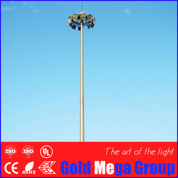 Steel High Mast Lighting Pole 40 Meter - Buy High Quality Lighting Poles  40m,Steel Light Pole,High Mast Poles 40m Product on Alibaba com