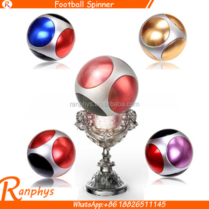 Ranphys new design football Aluminum alloy fidget spinner magic ball hand spinner