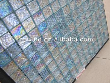 Glasmozaiek Voor Badkamer : Kleine vierkante tegel gs29 aqua blauwe vloeistof glasmozaïek