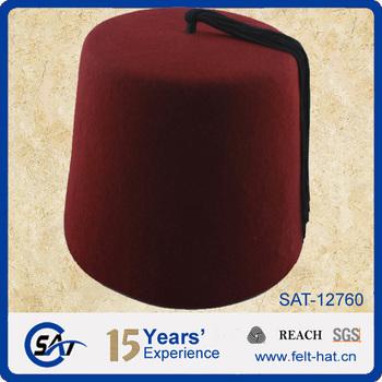 a40347fba 100% Wool Felt Fez Hat Wholesale - Buy Fez Hat,Felt Fez Hat,Burgundy Fez  Hat Product on Alibaba.com