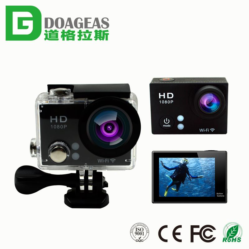 2017 OEM action 170 degree outdoor extreme cam 30m under water full hd 1080p action camera sports