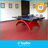 Solid pvc mats flooring for indoor table tennis court