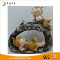 Super quality brands fairy light brown anime figurine resin ornament