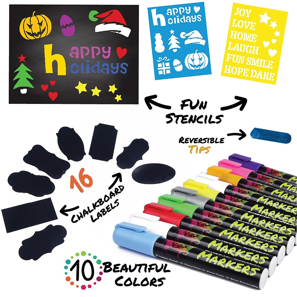 32 Pack Chalkboard Markers For Chalkboards  Reversible Bullet And Chisel  Tip  Chalk Board Marker Paint Water Based Non-toxic - Buy Chalk In