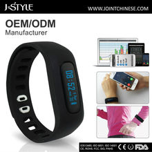ODM/ OEM acceptable Android and IOS wristband pedometer sleep monitoring
