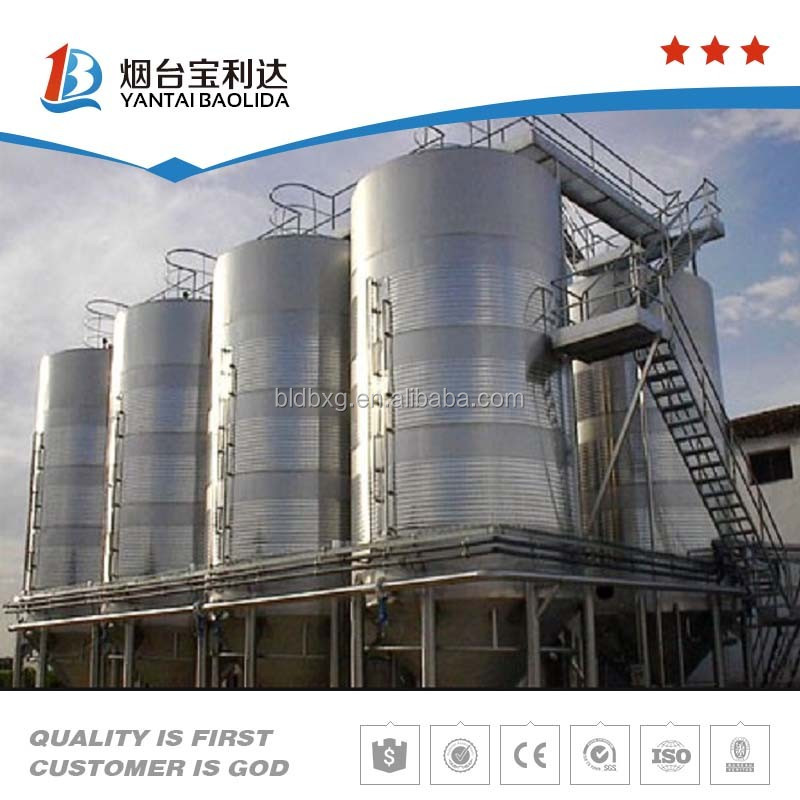 large conical stainless steel oil storage tank for sale