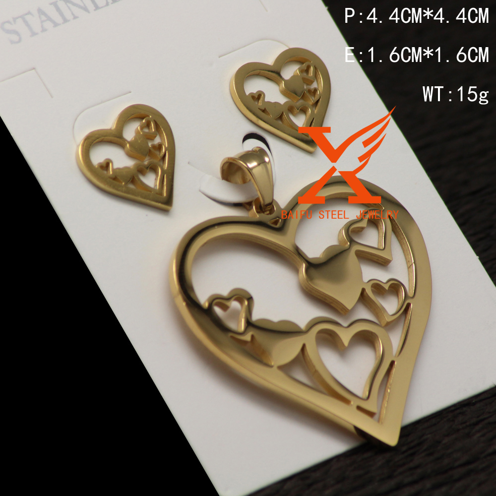 2017 Wholesale Best Quality Jewelry with Cheap Price Women Heart Shaped Jewelry Set in Latest Design Contains a Variety