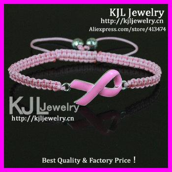 Gzkjl Bl0431 Enamel Pink Ribbon Triple