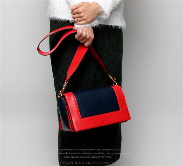 Fashion trendy genuine leather professional women's shoulder bag