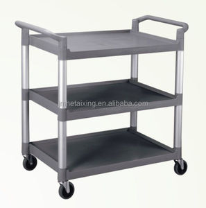 Big Size Plastic Dining Trolley for Hotel & Restaurant Food Service