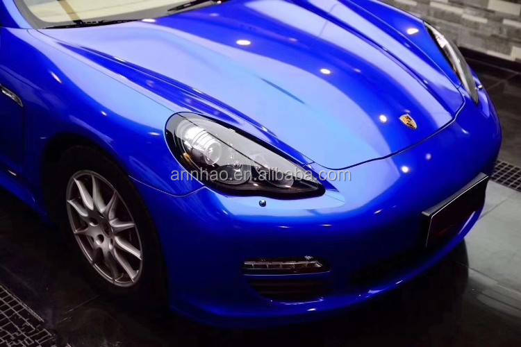 Ondis 1.52*18m Auto Accessories Lake Blue Super Glossy Crystal Sticker Car Wrap