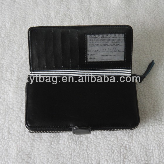 Fashional leather notecase for ladies with passport clip