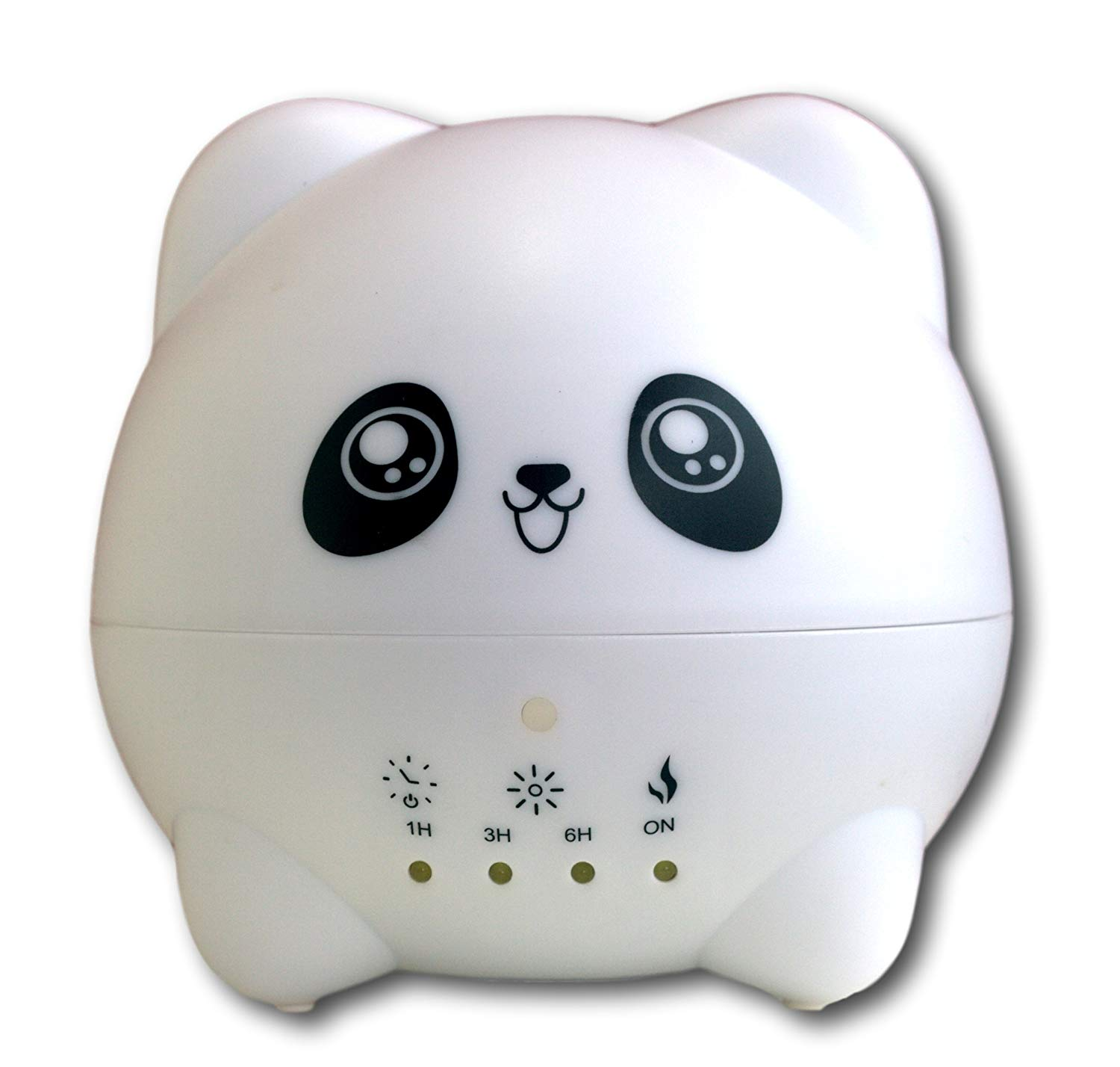 Cute Animals Aromatherapy Ultrasonic Diffuser for Kids-Portable Essential Oil Diffuser with 7 Color LED Lights-Waterless Auto-shut Function for Home & Office-Bedroom-300mL (Panda)- BPA Free