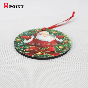 Sublimation MDF Christmas Gifts Natural Wood Pendants Xmas Tree Ornament