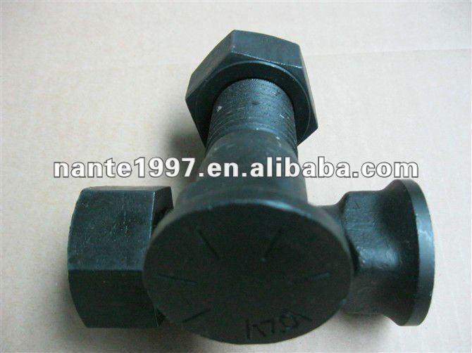 12.9 10.9 8.8 grade 40Cr 35CrMo 42CrMo construction Track shoe bolts and square hex nuts plow bolts and nuts