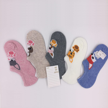 Wholesale custom logo low cut no show invisible women  boat socks