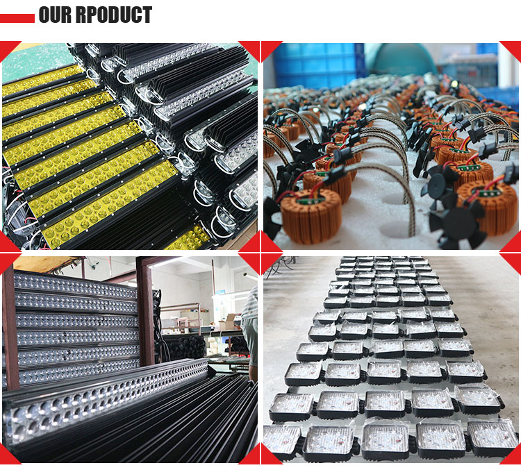 Wholesale led light bar 144w 57cm long double rows led lamp bars off road amber led work light