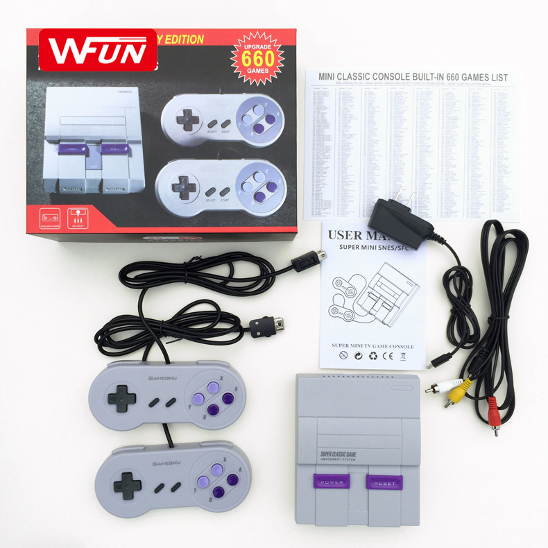 Factory Retro Super Classic Mini 8 Bit Family TV Video Game Console Built-in 660 Gaming Player Gift For Nintendo NES Console