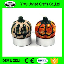 Creative design Halloween decoration theme candle pumpkin shaped skull candle