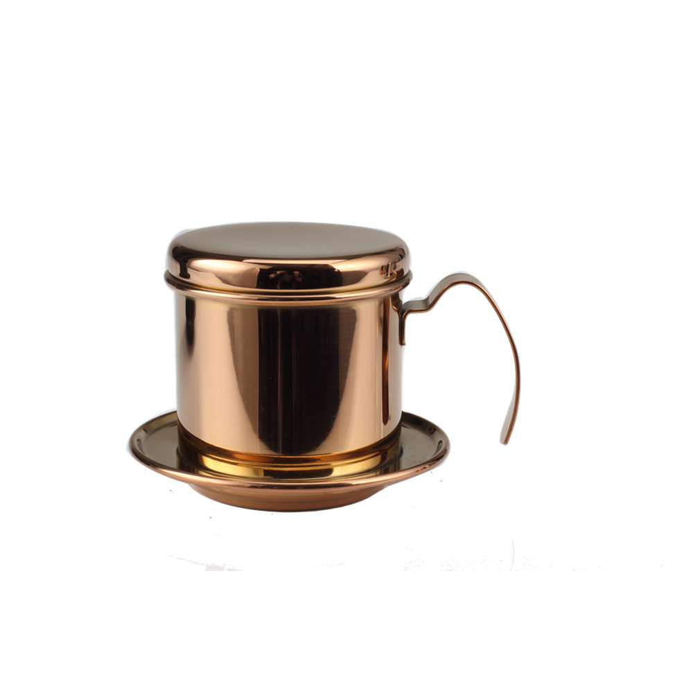 Vietnamese <strong>Coffee</strong> <strong>Maker</strong> Pot Stainless Steel Vietnam <strong>Coffee</strong> <strong>Drip</strong> Filter <strong>Maker</strong> Gold