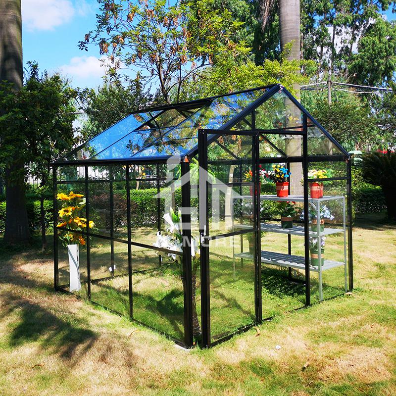 Modular Design Extendable Aluminium Polycarbonate Garden Glasshouse - 8' x 8.4'