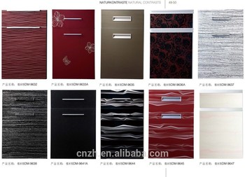 Colorful Fashion Design Acrylic Kitchen Cabinet Door With ...