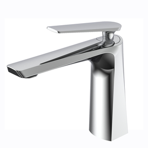 Artistic modern design chrome plated brass wash basin faucet