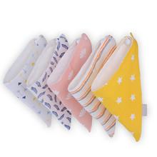2 Pcs/Set 2016 New Baby Bibs Bandana Cotton Baby Towel Waterproof for Baby Girls Boys Newborn Burp Cloths Triangle Scarf Brand