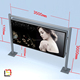 jewelry display scrolling led light box for outdoor advertising bus stop shelter